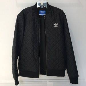ADIDAS QUILTED BLACK BOMBER